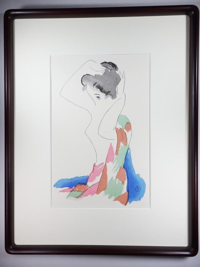 木版画「恋のほそみち」