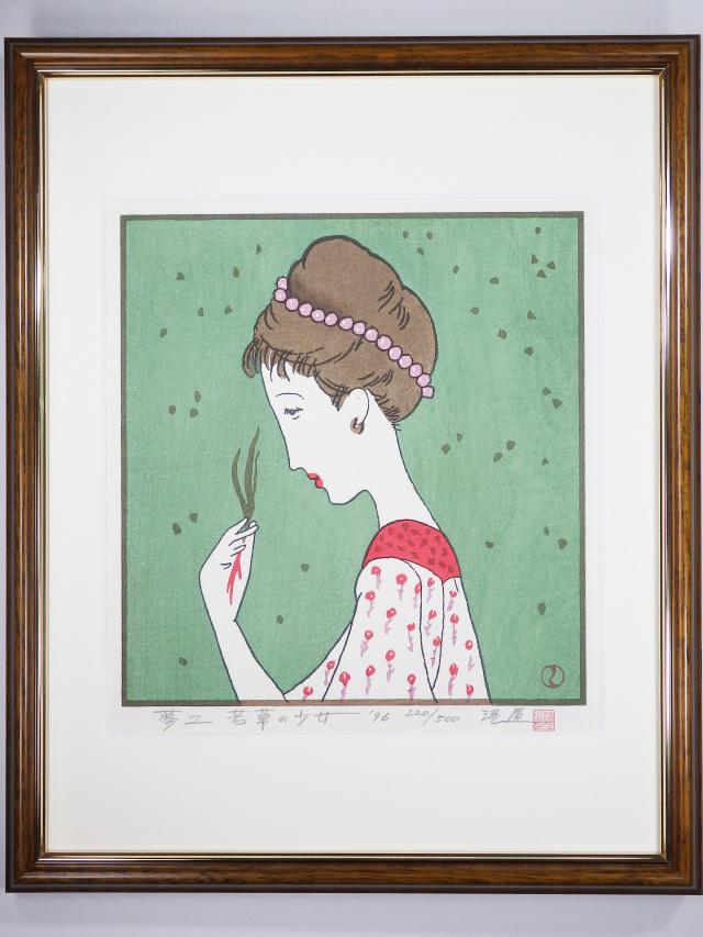 木版画「若草の少女」