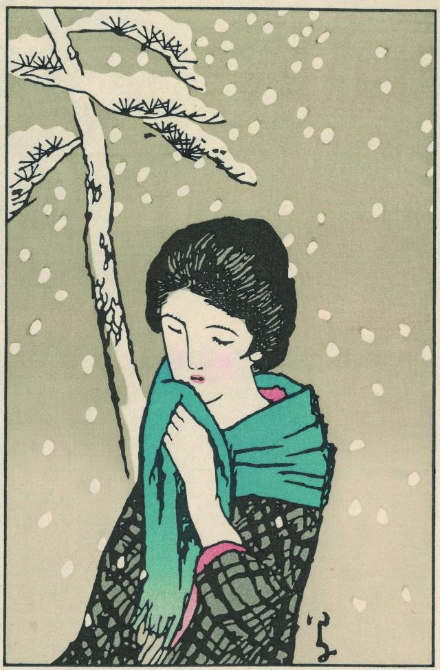 木版画「雪の日」