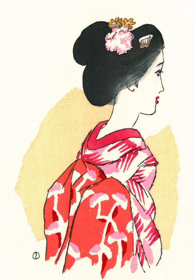 木版画「紅舞妓」