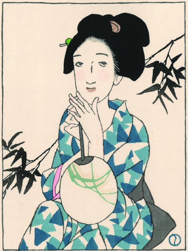 木版画「うちわ」
