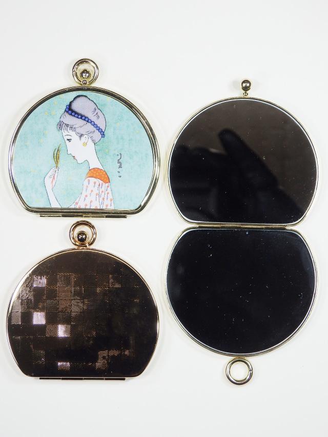 ダブルミラー(半円) 若草の少女