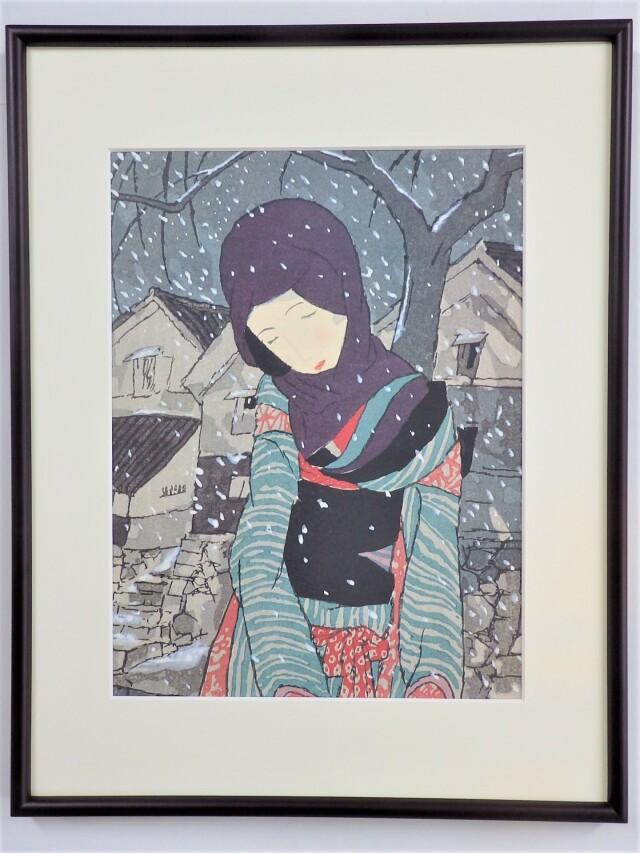 ポスター額「雪の夜の伝説」