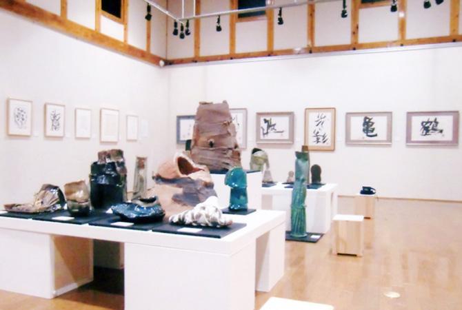 喜多方市美術館 池田満寿夫展の会場風景