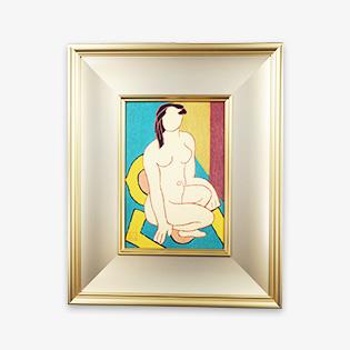「裸婦」木版画
