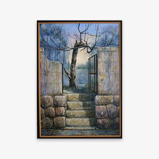 「梅屋敷」油彩画