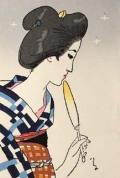 木版画/ゆかた(八つ額入り)