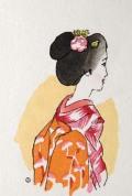 木版画/舞妓(八つ額入り)