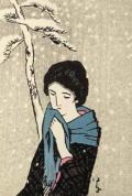木版画/雪(八つ額入り)