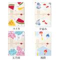 プリント裏ガーゼバスタオル 日本製 55×115  「japanese style-季節柄 夏」 ガーゼ & パイル