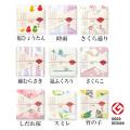 プリント裏ガーゼハンカチ 日本製 「japanese style-季節柄 春」 ガーゼ & パイルタオルハンカチ