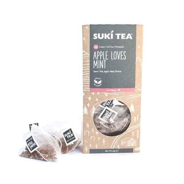 SUKI TEA(スキティー) アップルラブズミント ティーバッグ 3g×15袋
