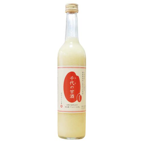 米糀でつくった無添加・無加糖・ノンアルコール 千代の甘酒500ml×1本