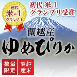 【蘭越産】令和2年産 米・食味鑑定士認定米 プレミアムゆめぴりか 20kg