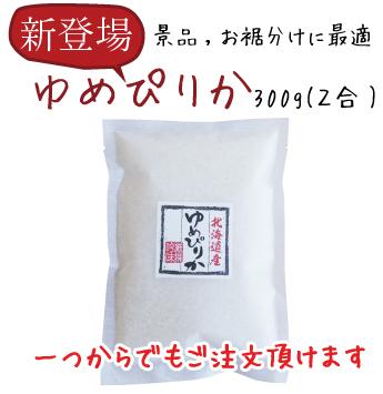 令和2年産 ミニミニ清流ゆめぴりか300g(2合)