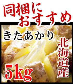 北海道産 きたあかり 5kg 同梱におすすめ!【発送は3営業日以降】