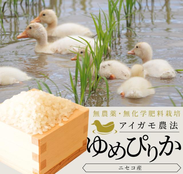 【令和2年産】アイガモ農法ゆめぴりか 2kg 密封チャックタイプ