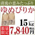 28年産 北海道産 清流 ゆめぴりか 15kg