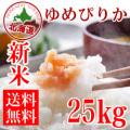 【定期購入】29年産 北海道産 清流 ゆめぴりか 25kg