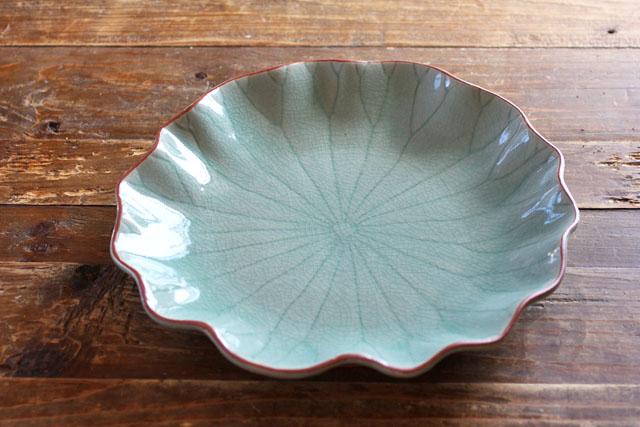 ロータス フリル皿 (27cm)
