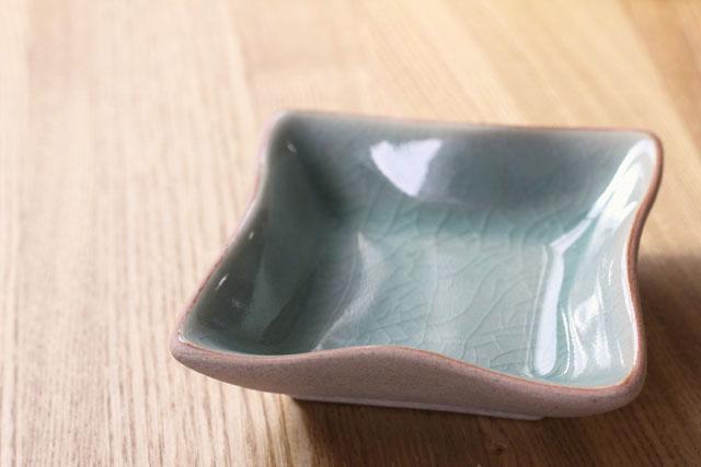 スクエア豆皿(10cm四方) テラコッタプレーン