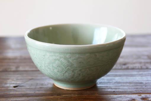 ごはん茶碗 L ナチュラルグリーン