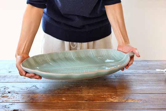 バナナリーフの大皿 (49cm) 3L