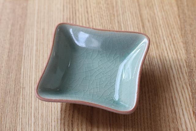 スクエア豆皿(8cm四方) テラコッタプレーン