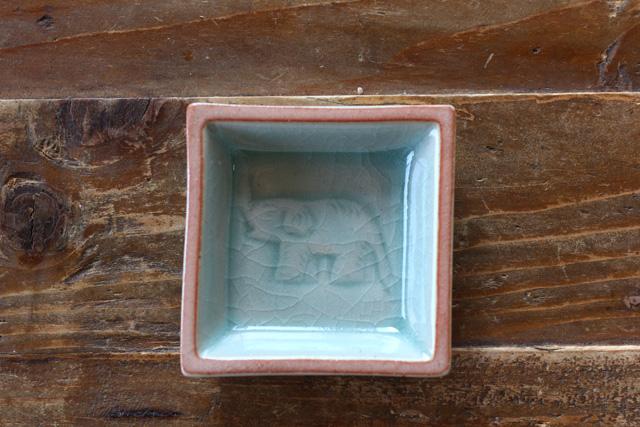 ぞうさん豆皿 スクエア (6cm)