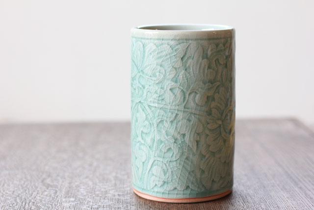 花瓶 中 フラワー オーシャングリーン