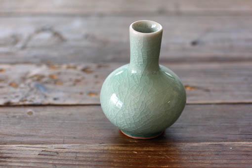 ちぃちゃな花瓶 ふらすこ オーシャングリーン
