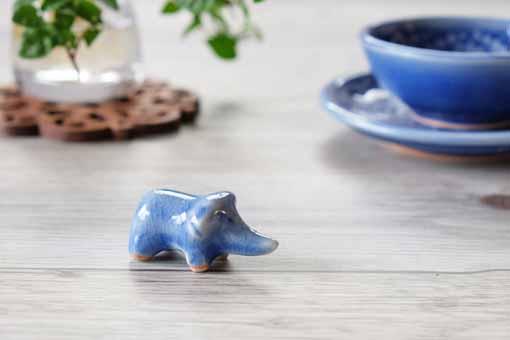 セラドンのはしおき ゾウ ブルー