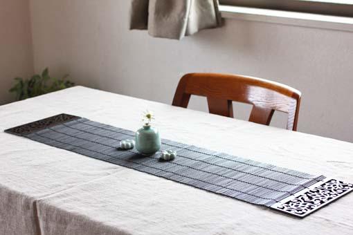 テーブルセンター(木・竹製) ロータス グレイズ 90 x 20 (側板幅7.5)