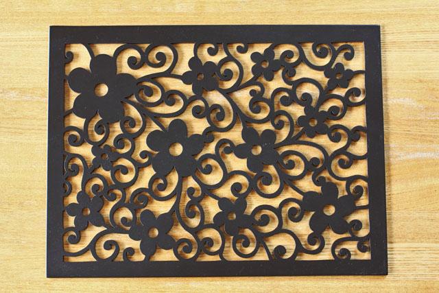 プレースマット(木製) パンジー グレイズ 40 x 30