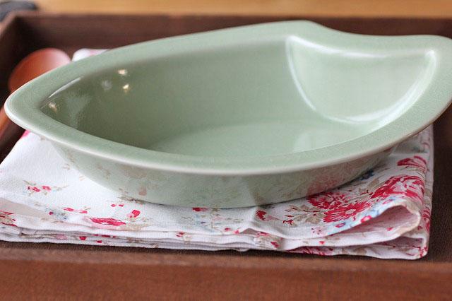 お米のカレー皿 L ナチュラルグリーン