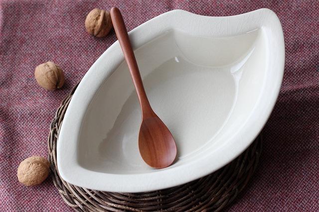 お米のカレー皿 M アイボリー