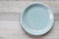 丸皿19cm フラワー オーシャングリーン
