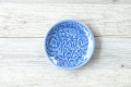 丸皿11cm フラワー ブルー
