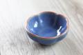ロータスの花の豆皿 ブルー
