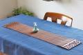テーブルセンター(木・竹製) ロータス キャラメル 90 x 20 (側板幅7.5)