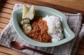 お米のカレー皿 M ナチュラルグリーン
