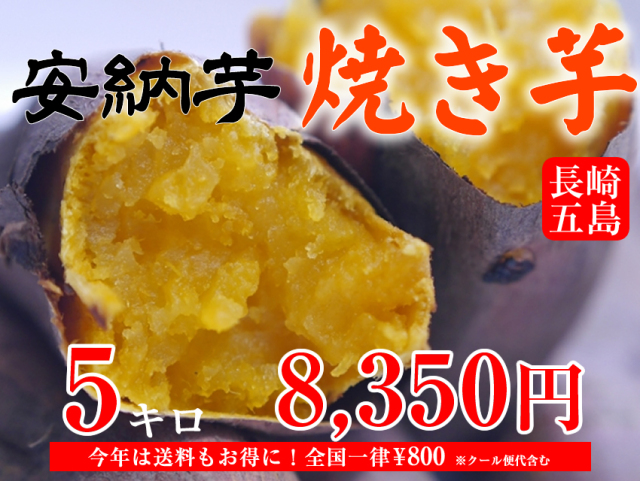 【安納芋】長崎五島産冷凍焼き芋/500~600g×10袋(約5kg)【クール便発送】【imo】