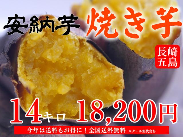 【安納芋】長崎五島産冷凍焼き芋/700g×20袋(約14kg)【クール便発送】【imo】
