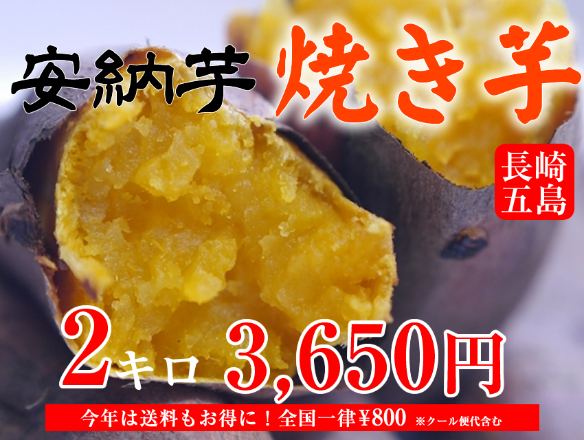 【安納芋】長崎五島産冷凍焼き芋/700g×3袋(約2kg)【クール便発送】【imo】