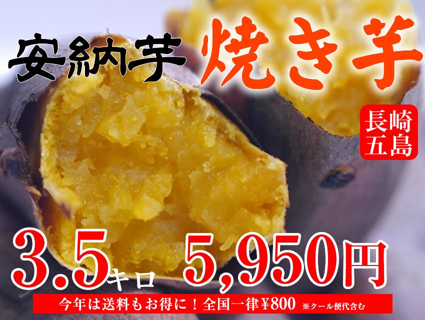 【安納芋】長崎五島産冷凍焼き芋/700g×5袋(約3.5kg)【クール便発送】【imo】