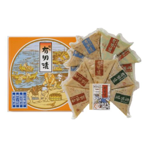(AS-50T)■4種類の粕漬が味わえます■有明漬 四色粕漬詰合せ樽入