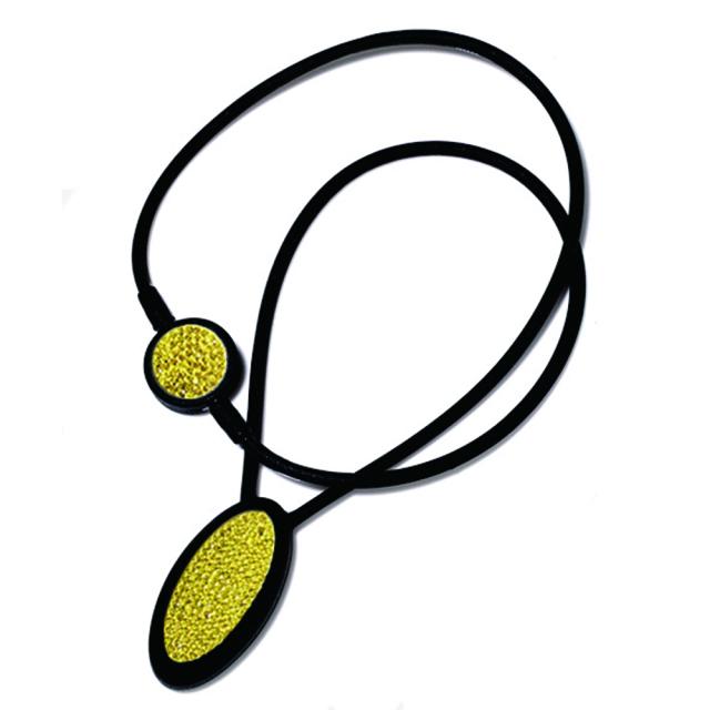 プレミアムネックレス-S 黒&黄