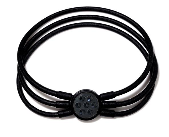ブレスレット 黒×ブラックスワロ