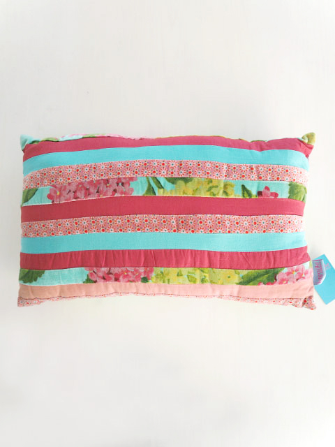 Bagaille バガイユ Pillow Cushion Patchwork  ピロークッション パッチワーク アジサイ(Hydrangea Turquoise)Type.B