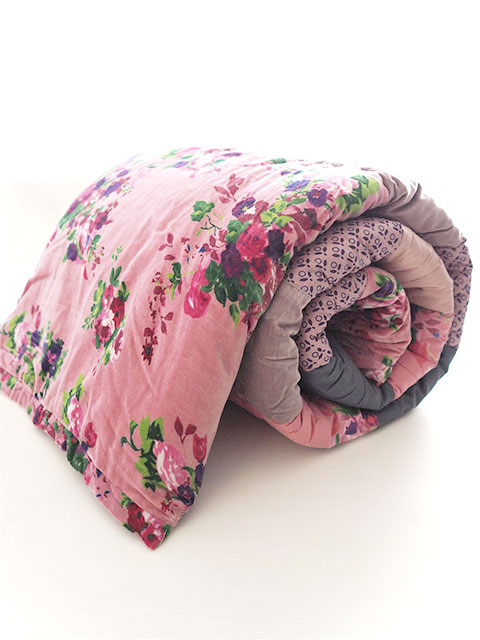 『SALE セール15%OFF』Bagaille バガイユ Quilt Multi Cover Patchwork キルト マルチカバー パッチワーク・ローズ ブラッシュ ピンク(Rose Blush Pink/86x208cm)Type.A